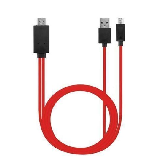 Picture of Micro-USB To HDMI Cable-Red